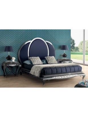 lit et t te de lit de luxe bleue capitonn e 2 personnes eiffel. Black Bedroom Furniture Sets. Home Design Ideas