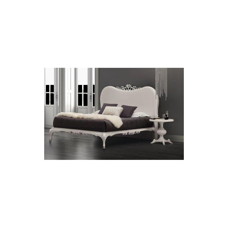 lit et t te de lit de luxe blanche 2 personnes milan. Black Bedroom Furniture Sets. Home Design Ideas