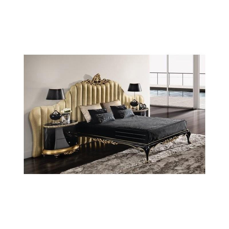 Lit et tête de lit de luxe capitonnée 2 personnes Milan