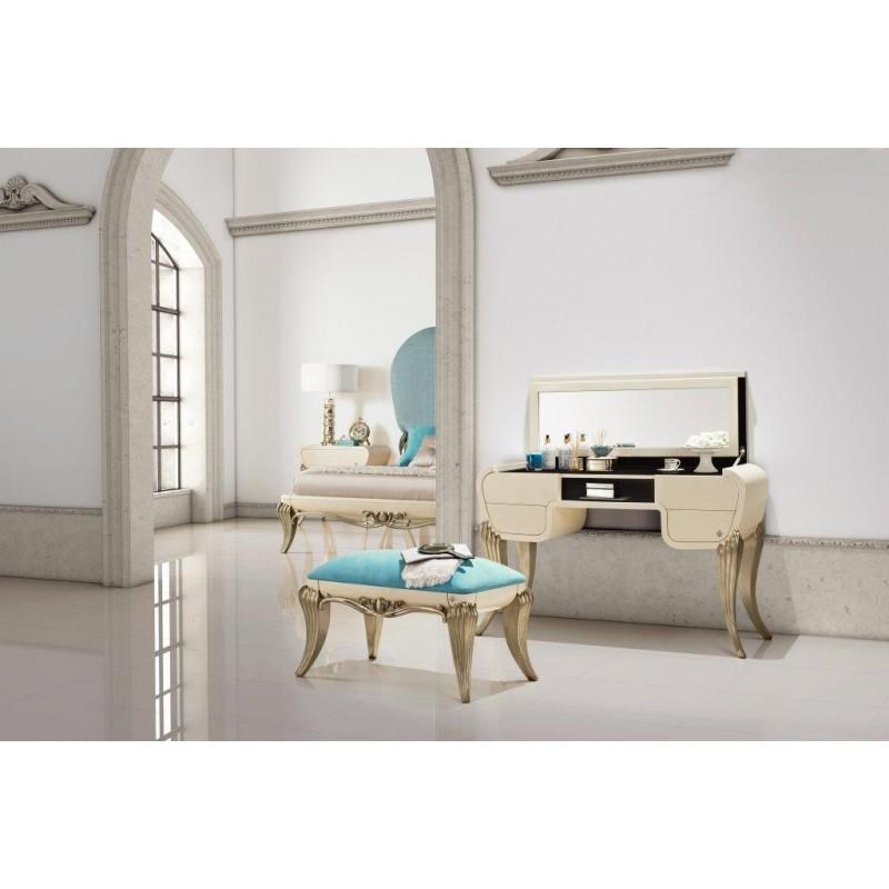coiffeuse de luxe avec tiroirs et un miroir 1900. Black Bedroom Furniture Sets. Home Design Ideas