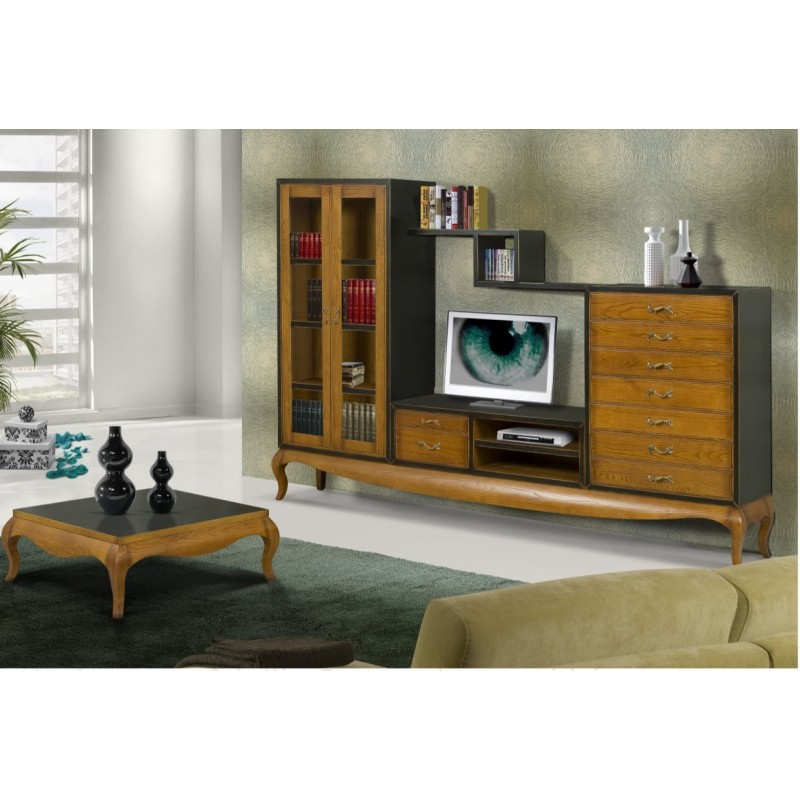 Meuble tv antiquaire 2 portes ruben table basse for Meuble 9 tiroirs