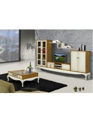 meuble tv antiquaire 5 portes ruben siam table basse. Black Bedroom Furniture Sets. Home Design Ideas