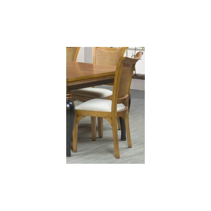 Chaise antiquaire tissu blanc victoria luang for Chaise quercus