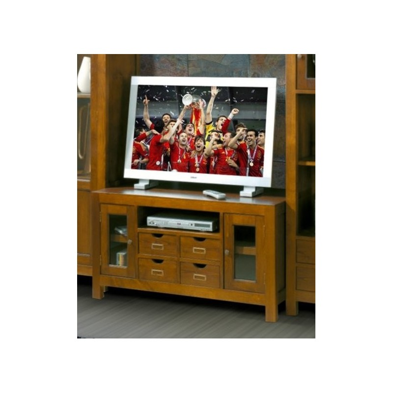 meuble tv antiquaire 2 portes xieng. Black Bedroom Furniture Sets. Home Design Ideas