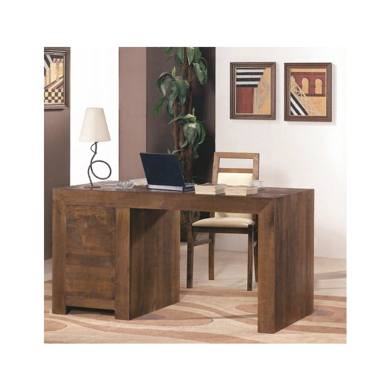 bureau en ch ne 1 chaise de bureau offerte ariana. Black Bedroom Furniture Sets. Home Design Ideas