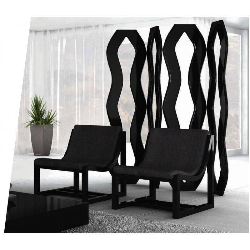 s paration cloison design noire liz. Black Bedroom Furniture Sets. Home Design Ideas