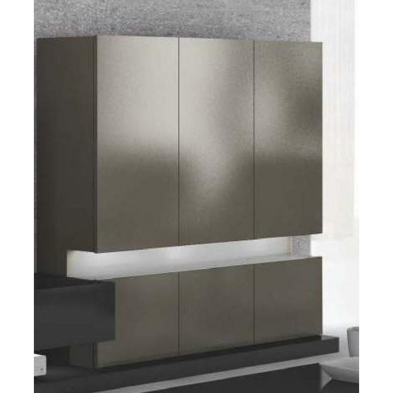 biblioth que meuble colonne design 6 portes avec clairage led. Black Bedroom Furniture Sets. Home Design Ideas