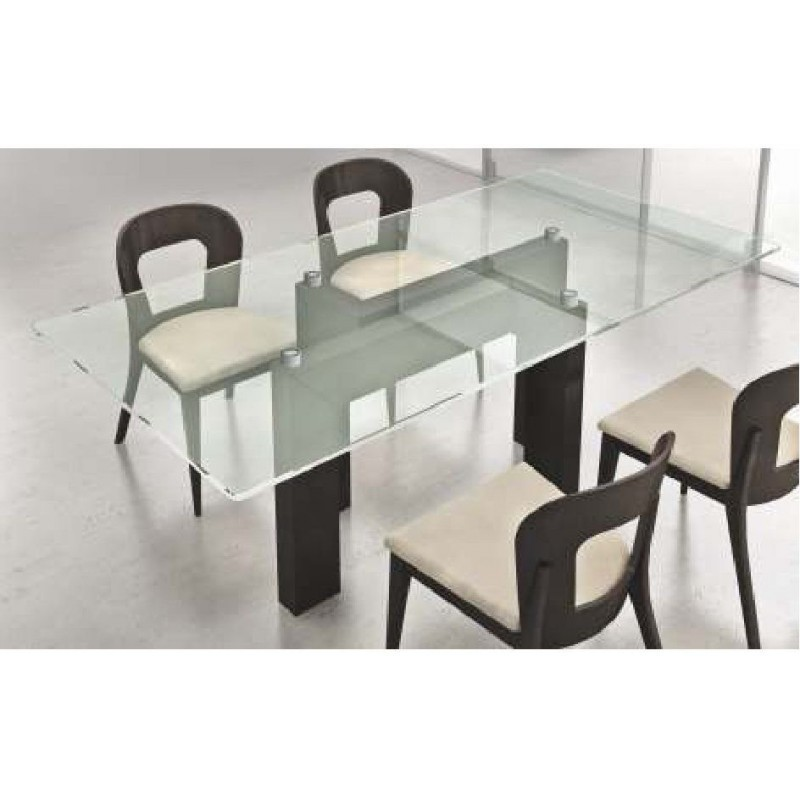 Table de s jour noire et blanche design rectangulaire onix for Table sejour design
