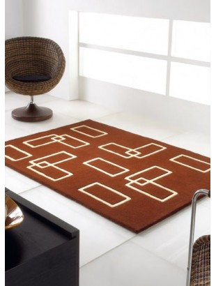 segment tapis en laine de mouton marron et blanc. Black Bedroom Furniture Sets. Home Design Ideas