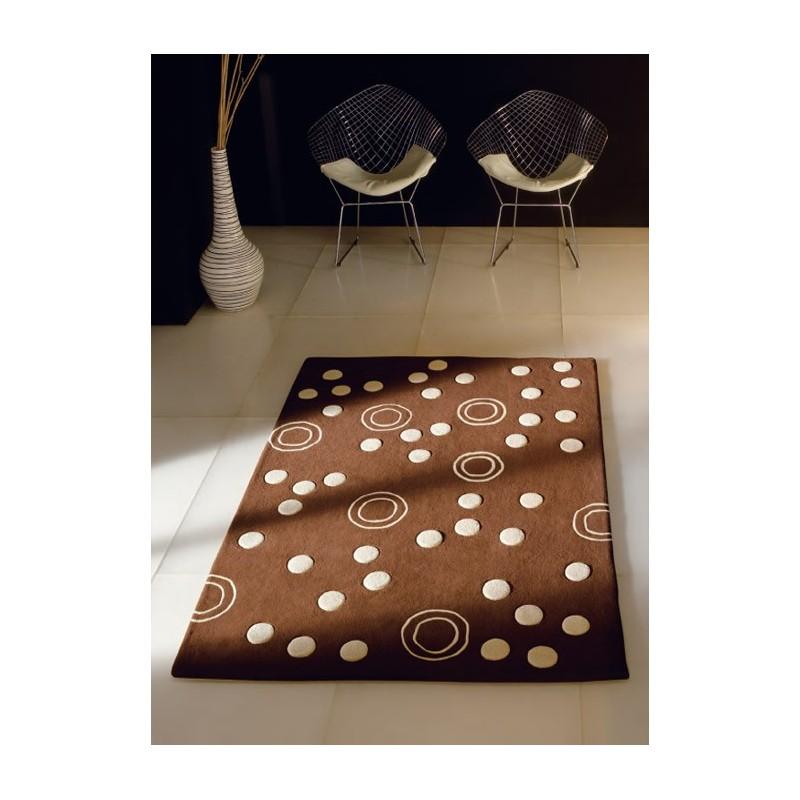 club tapis en laine de mouton marron et blanc. Black Bedroom Furniture Sets. Home Design Ideas