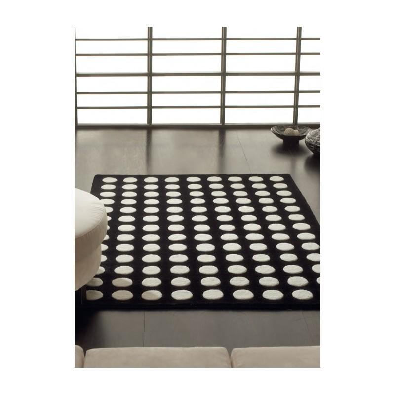 practice tapis en laine de mouton noir blanc marron. Black Bedroom Furniture Sets. Home Design Ideas