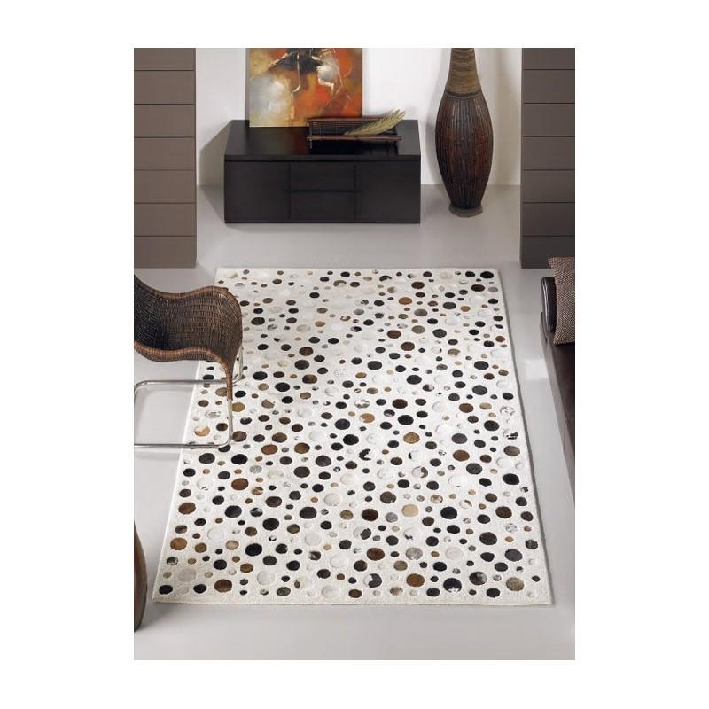vulcain tapis en laine de mouton marron et blanc. Black Bedroom Furniture Sets. Home Design Ideas