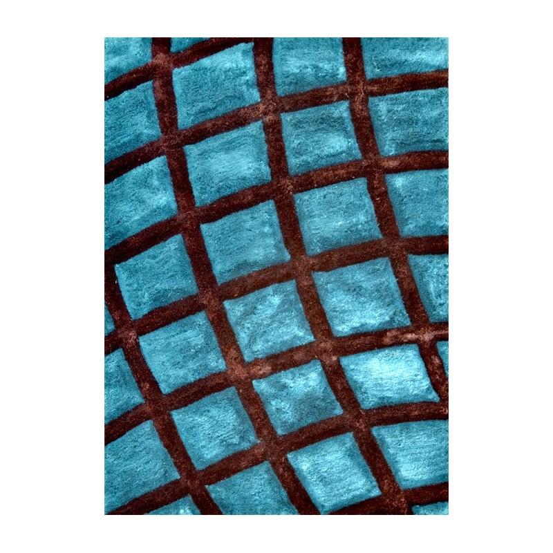 3d celtique tapis 3d 100 synth tique polyester bleu et noir Tapis noir et bleu