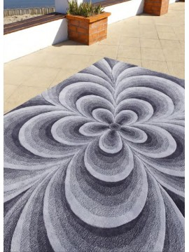 Tapis Rosace Blanche