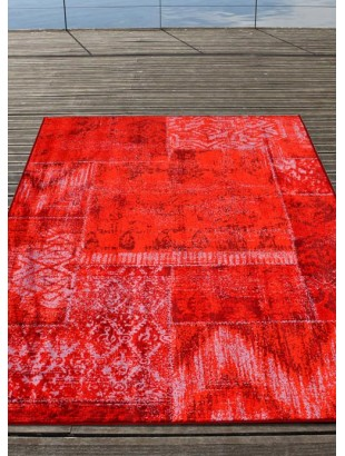 bona tapis vintage 100 viscose rouge orange. Black Bedroom Furniture Sets. Home Design Ideas