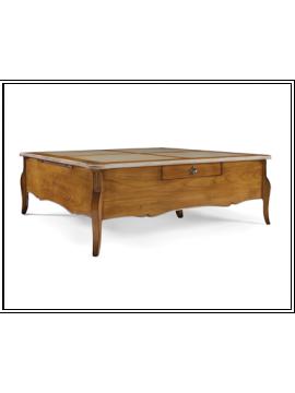 table basse en ch ne rectangulaire. Black Bedroom Furniture Sets. Home Design Ideas