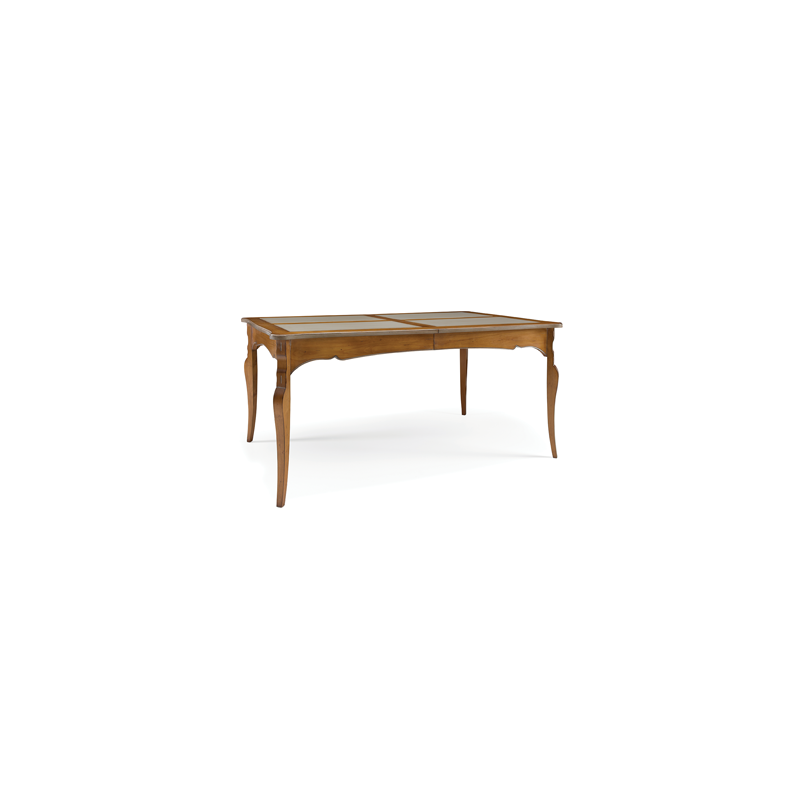 Table de s jour rustique ch ne rectangulaire austrina for Table de sejour