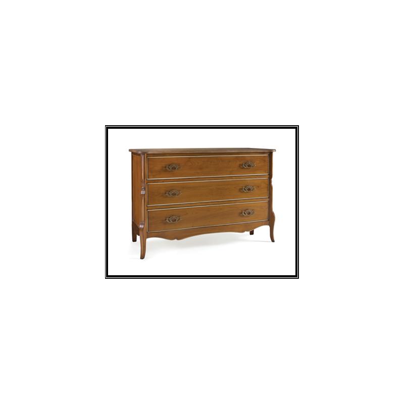 commode rustique en ch ne 3 tiroirs austrina. Black Bedroom Furniture Sets. Home Design Ideas