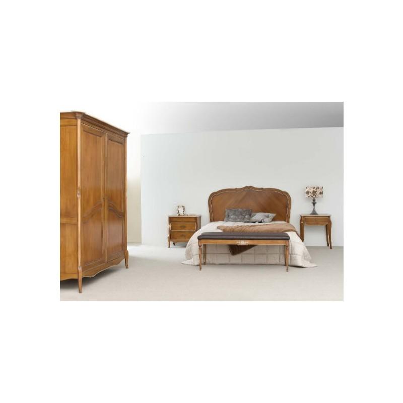 Chambre adulte rustique quercus armoire et chevet for Chambre complete adulte rustique