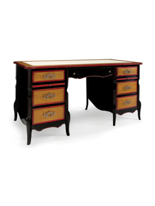 bureau rustique en ch ne 7 tiroirs quercus. Black Bedroom Furniture Sets. Home Design Ideas