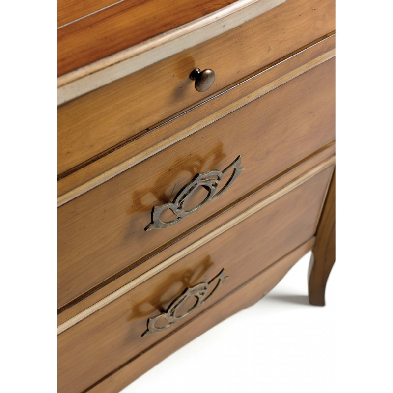 chevet rustique 3 tiroirs austrina. Black Bedroom Furniture Sets. Home Design Ideas