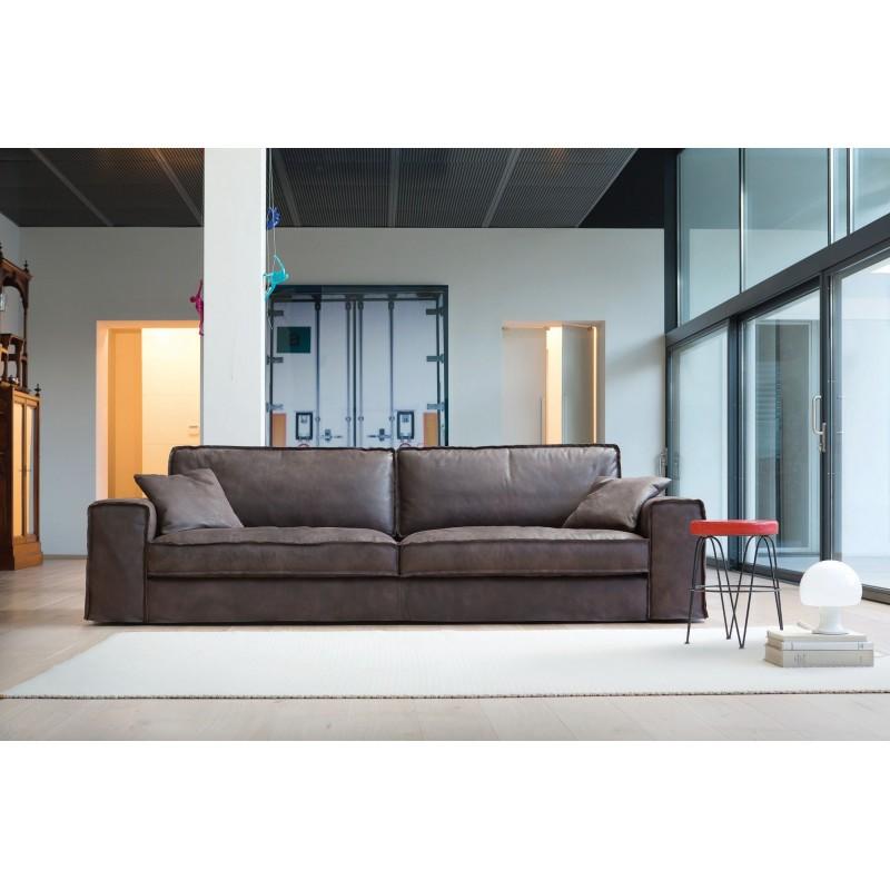 le canap italien stockton cuir ou tissu. Black Bedroom Furniture Sets. Home Design Ideas