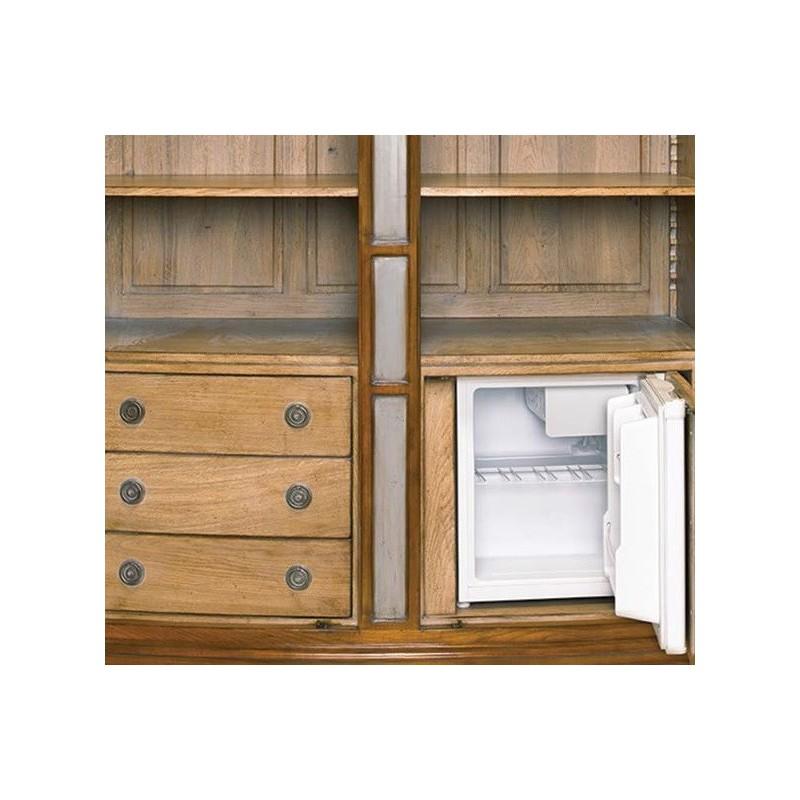 meuble bar rustique 2 portes avec r frig rateur cornelius. Black Bedroom Furniture Sets. Home Design Ideas