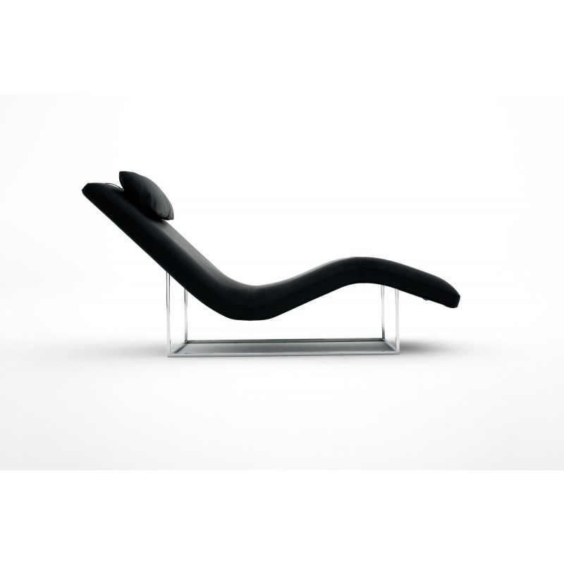chaise longue de salon italienne cuir ou tissu san diego xp. Black Bedroom Furniture Sets. Home Design Ideas