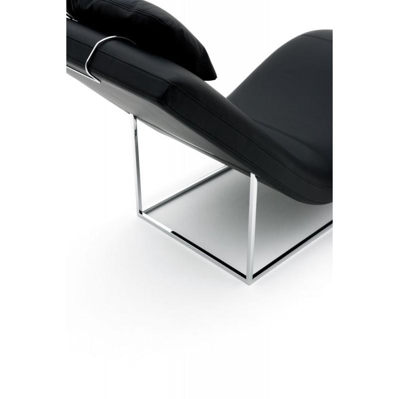 Chaise longue de salon italienne cuir ou tissu san diego xp for Chaise cuir salon
