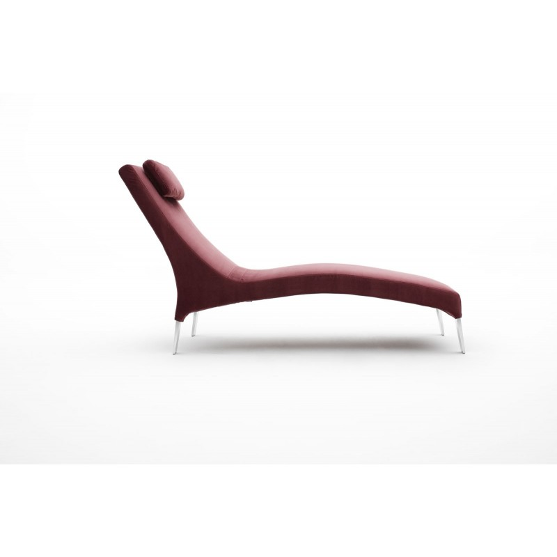 Chaise longue de salon italienne cuir ou tissu bakerfield for Chaise italienne
