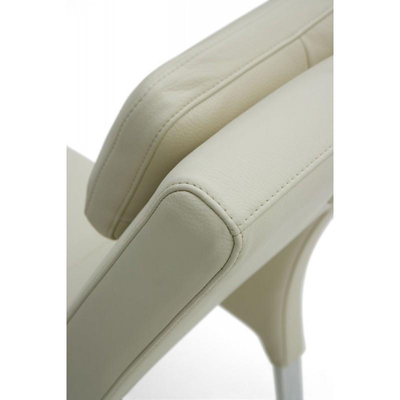 Chaise longue de salon italienne cuir ou tissu bakerfield for Tissus pour chaise longue