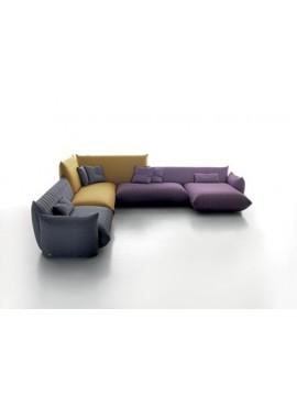 Canapé avec chaise longue Sonora