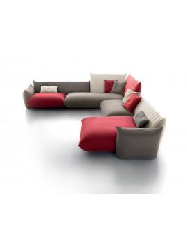 Canapé d'angle avec chaise longue Sonora