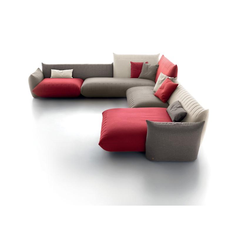 canap d 39 angle design avec chaise longue sonora tissu. Black Bedroom Furniture Sets. Home Design Ideas
