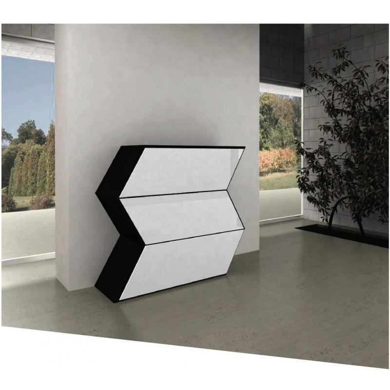 Commode design noire et blanche slice - Commode noire et blanche ...