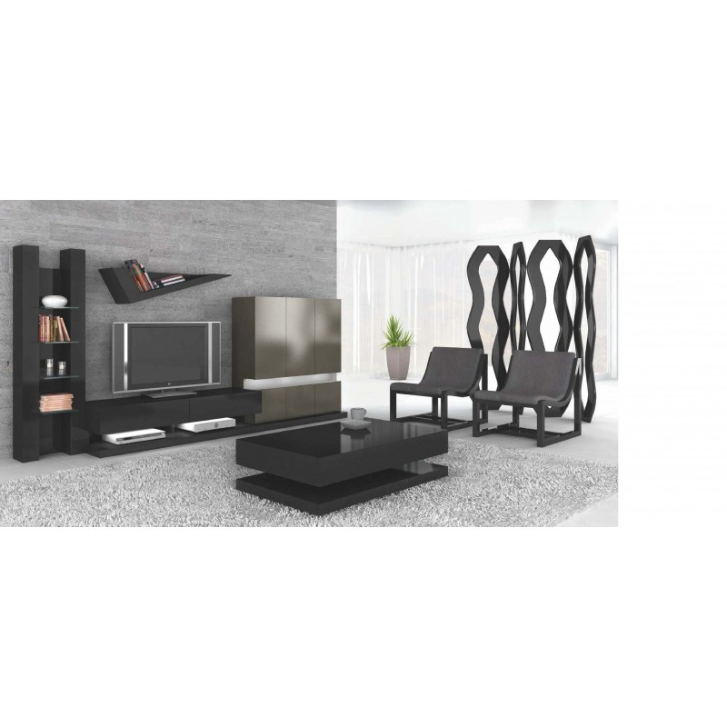 meuble tv design avec clairage led orloff table basse. Black Bedroom Furniture Sets. Home Design Ideas