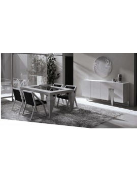 buffet design blanc avec clairage led jonker. Black Bedroom Furniture Sets. Home Design Ideas