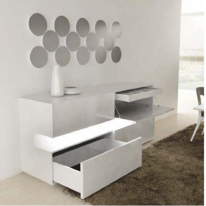salle manger design luz buffet et miroir. Black Bedroom Furniture Sets. Home Design Ideas