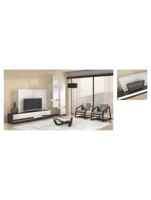 Meuble tv design avec clairage led luz sancy table basse et fauteuil - Eclairage led pour meuble tv ...