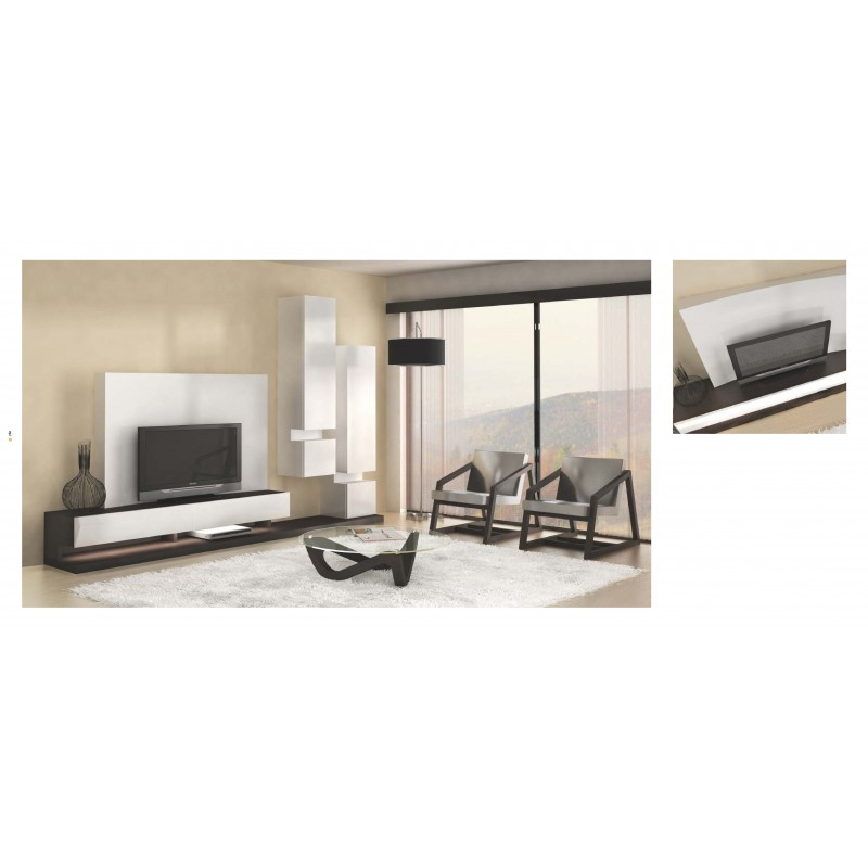 meuble tv design avec clairage led luz sancy table basse et fauteuil. Black Bedroom Furniture Sets. Home Design Ideas