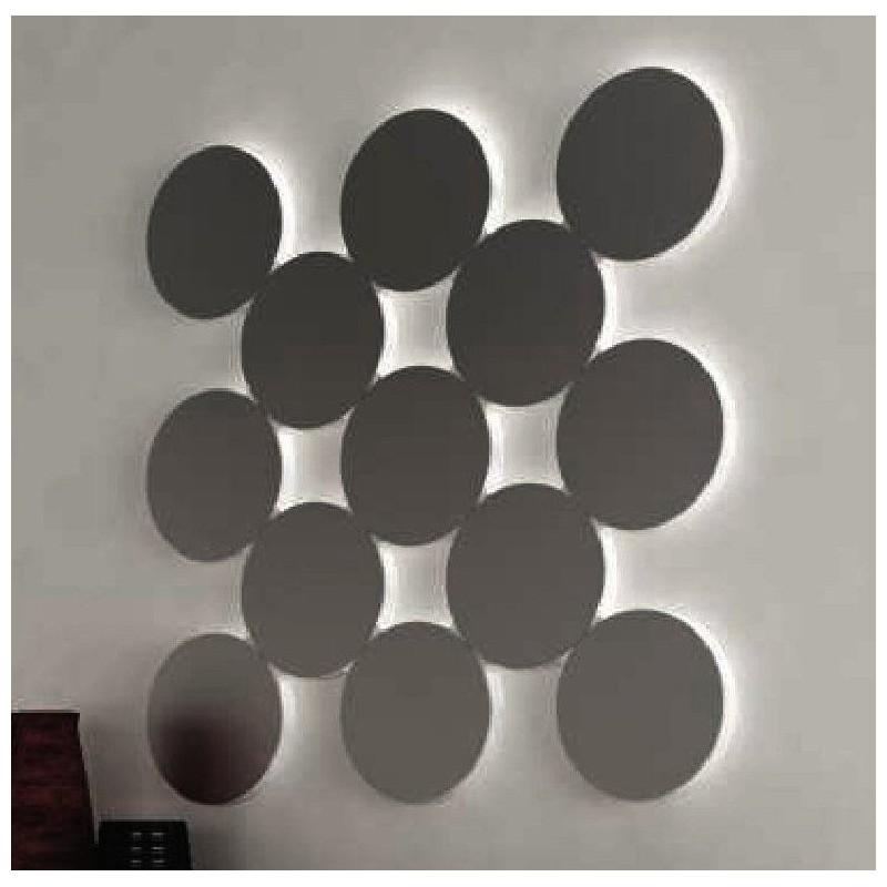 Miroir design petits ronds formant un carr esmeralda for Petits miroirs ronds