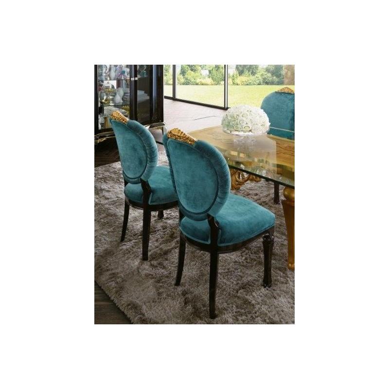 chaise de luxe venize tissu bleu. Black Bedroom Furniture Sets. Home Design Ideas