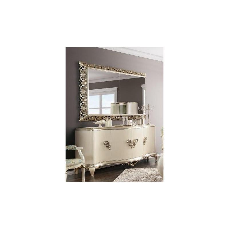 buffet de luxe blanc 4 ou 6 portes venize miroir tv int gr e. Black Bedroom Furniture Sets. Home Design Ideas