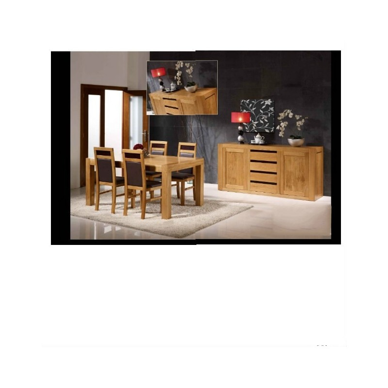 salle manger en ch ne viana buffet. Black Bedroom Furniture Sets. Home Design Ideas