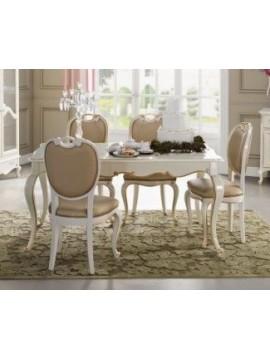 Table de s jour de luxe rectangulaire plateau verre venize for Table de salle a manger luxe