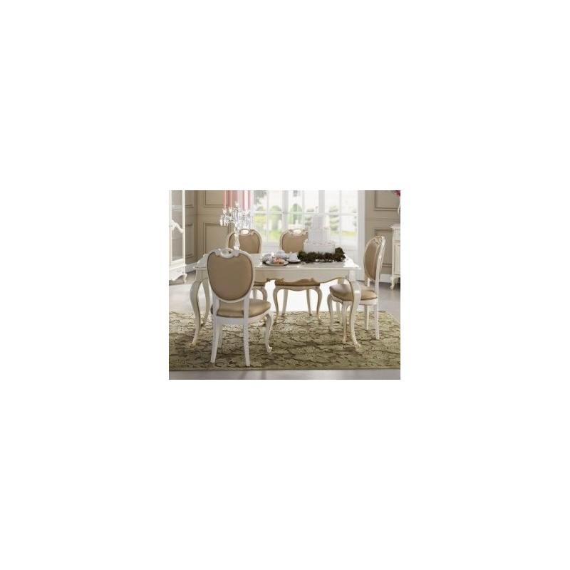 table de s jour de luxe rectangulaire ou ronde avec ou sans rallonge glamour et chaise. Black Bedroom Furniture Sets. Home Design Ideas