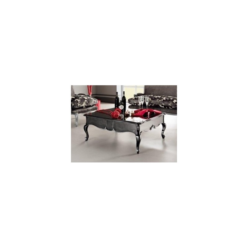 table basse de luxe carr e ou rectangulaire glamour. Black Bedroom Furniture Sets. Home Design Ideas