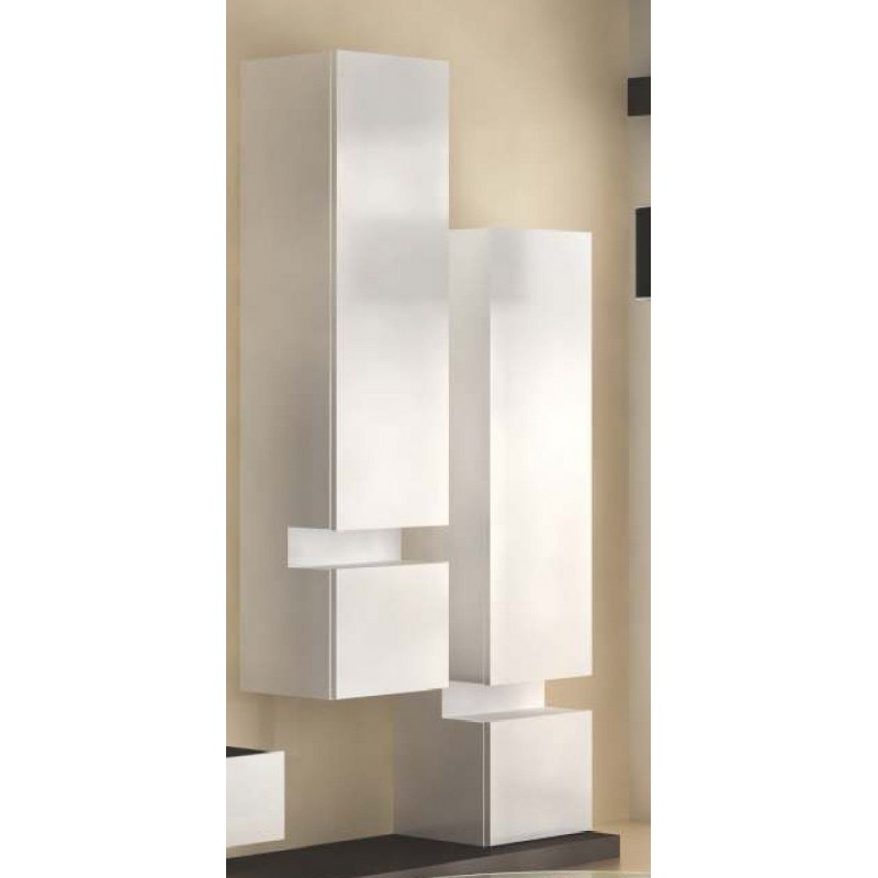 biblioth que colonne design blanche luz. Black Bedroom Furniture Sets. Home Design Ideas