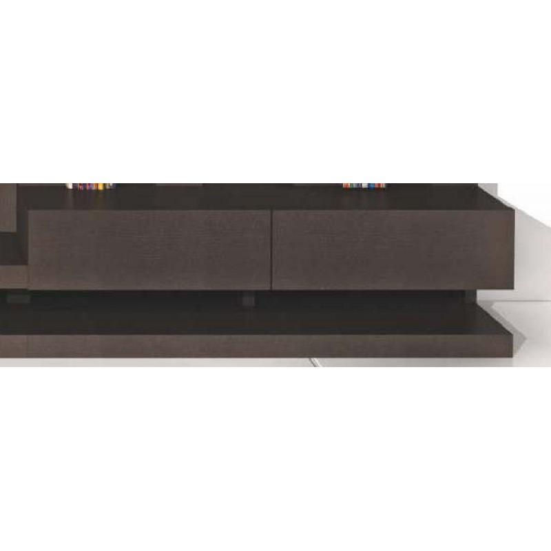 meuble bas design 2 tiroirs 2 niches luz moka luz. Black Bedroom Furniture Sets. Home Design Ideas