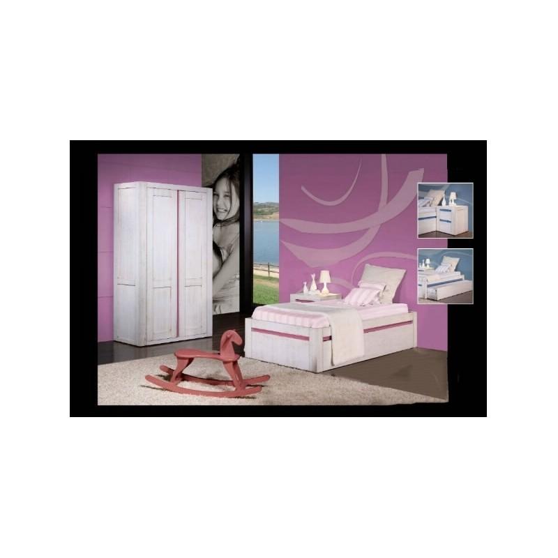 chambre fille lit baldaquin armoire chevet. Black Bedroom Furniture Sets. Home Design Ideas